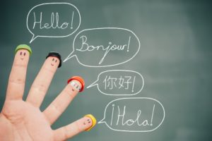 different languages