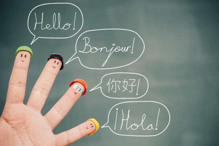 different languages