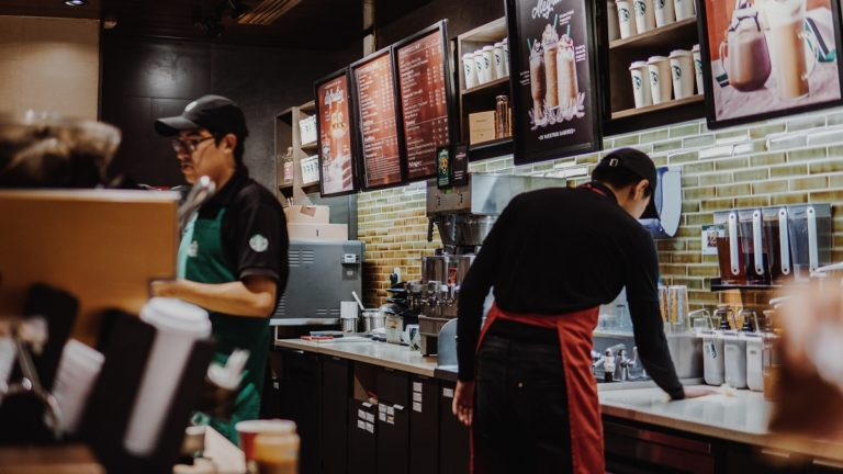 baristas at starbucks