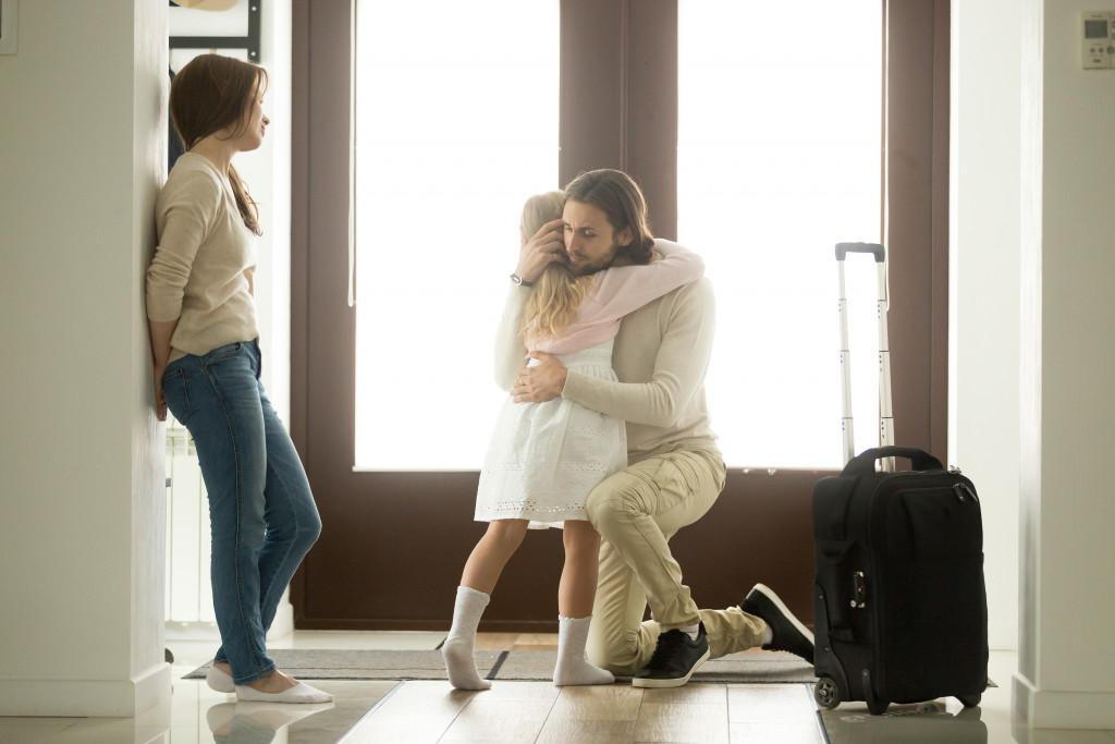 parent leaving child