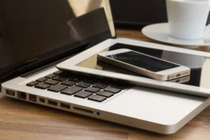 laptop, tablet and smart phone