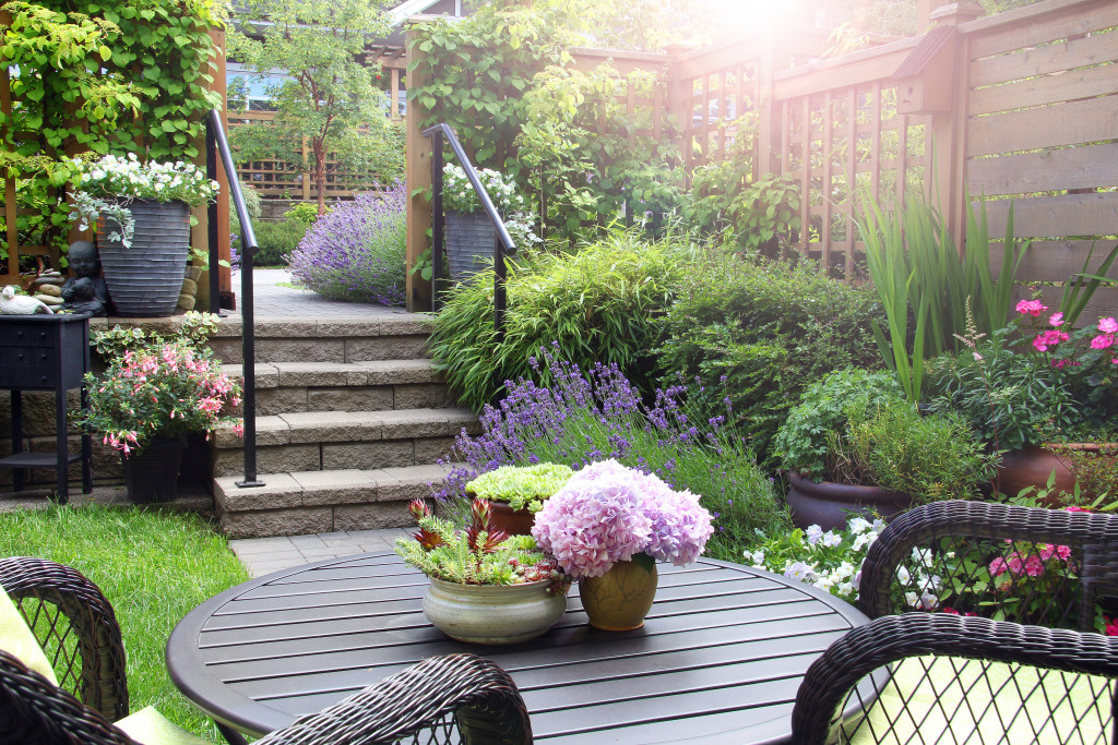 garden furniture and landscaping