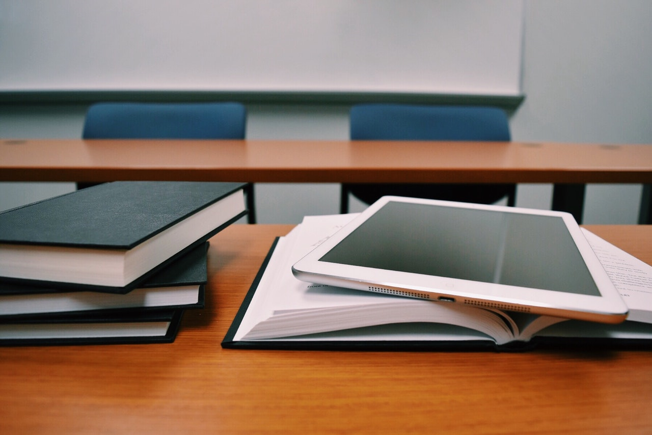 classroom and digital mix