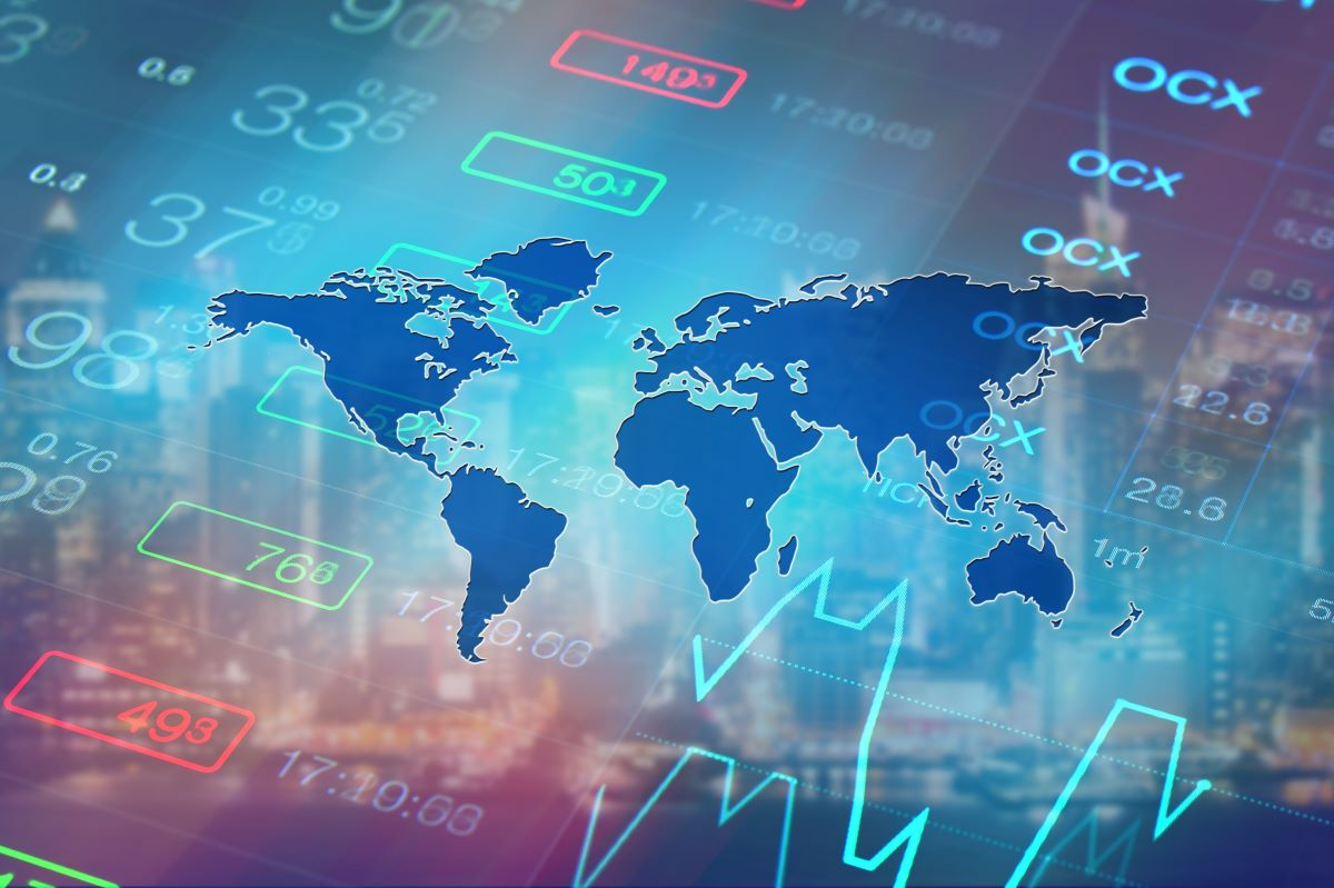 World global economy, financial concept.