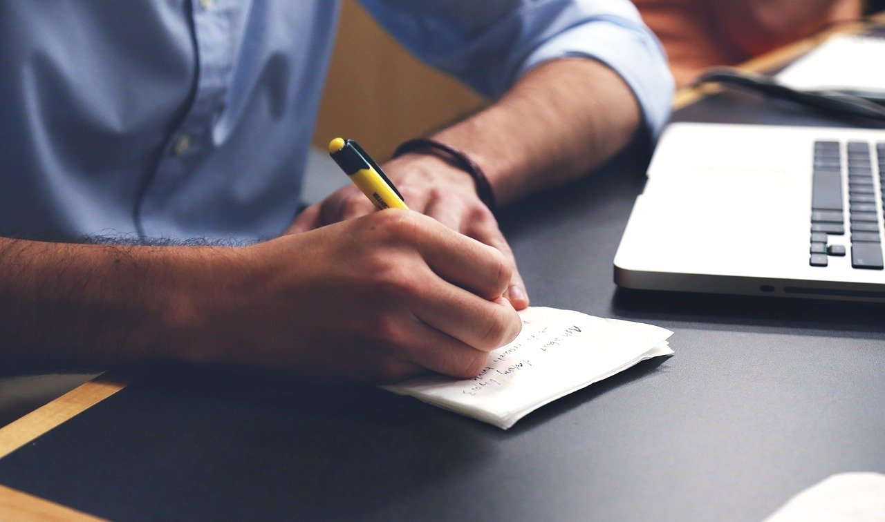business - man writing