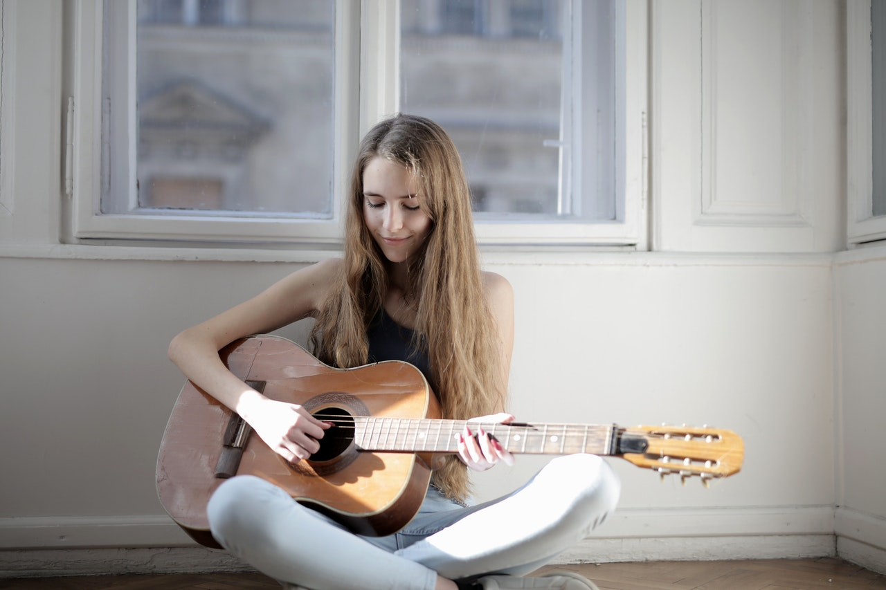playing music instrument - guitar