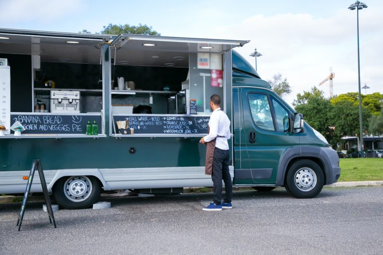 man opening food truck business