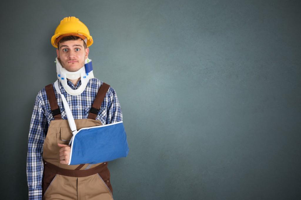 injured construction employee