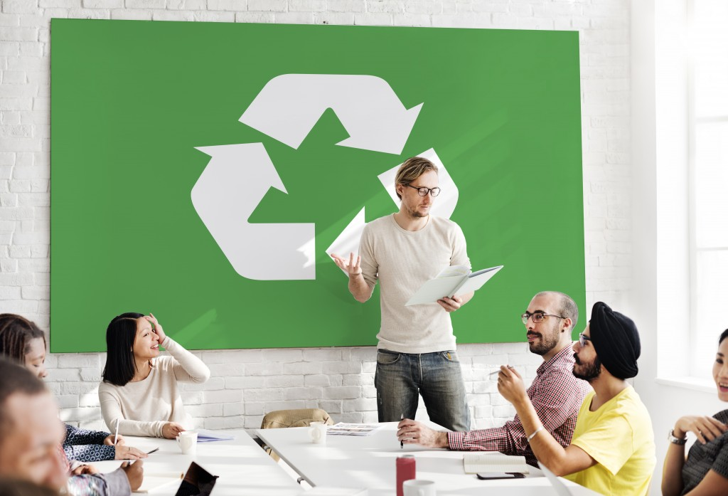 talking about recycling
