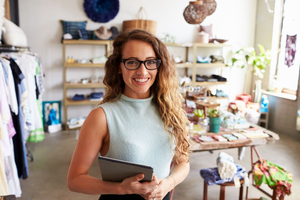 business woman small business